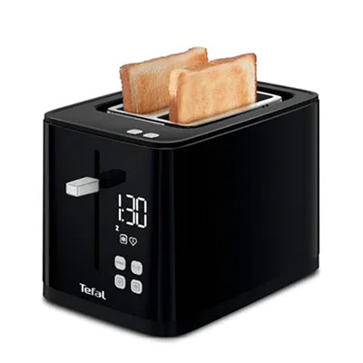 Tefal TT6408 Digital Black Toaster