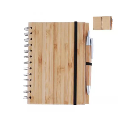 Wood Bamboo Cover Notebook