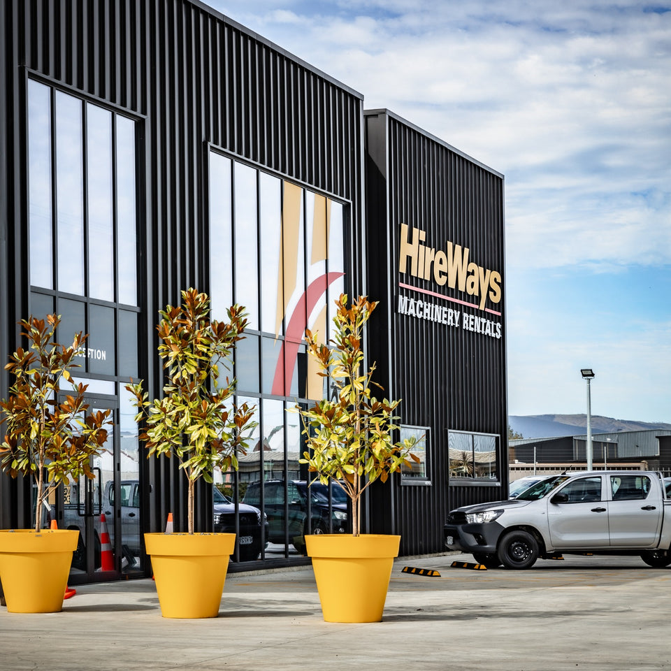 Commercial Planters at business premises. Planters in front of business.