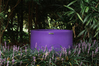 Large purple cylinder planter by Modscene Planters. NZ made designer planters.