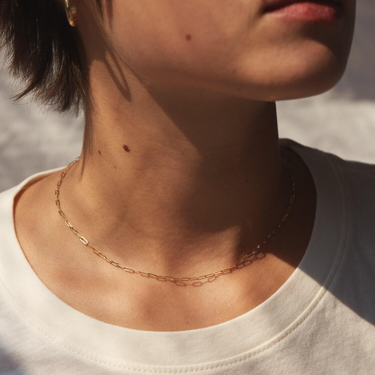Dainty Paperclip Chain