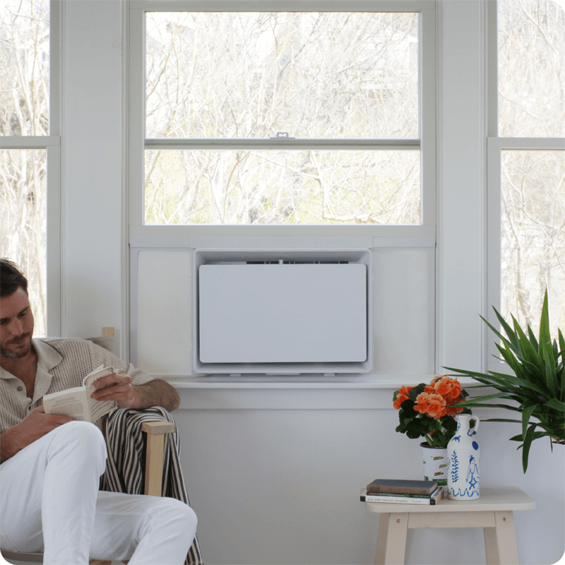 July matte white air conditioner