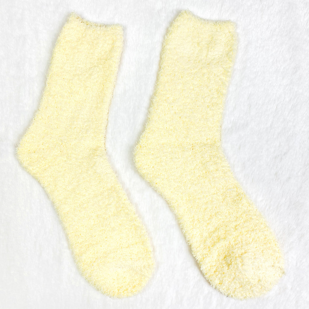 Buttermilk Fluffy Socks