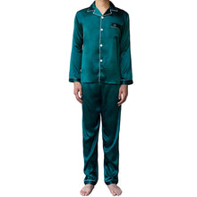 Load image into Gallery viewer, Teal Men Pajamas Set
