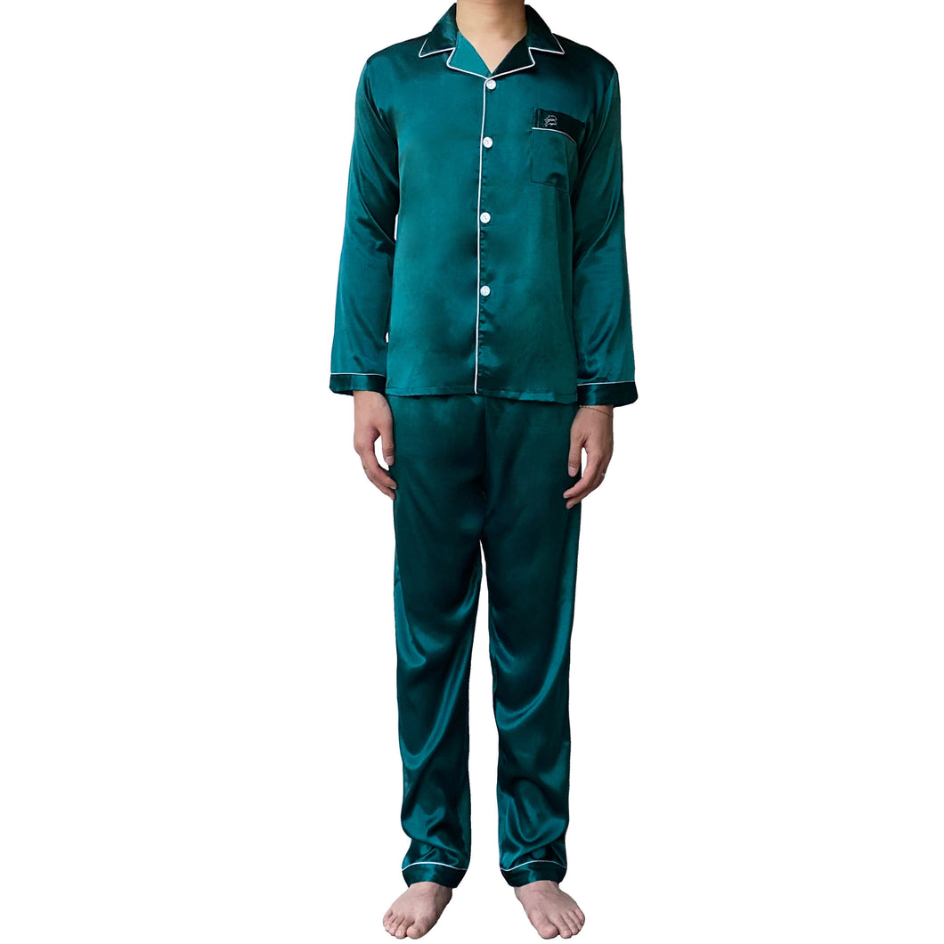 Teal Men Pajamas Set