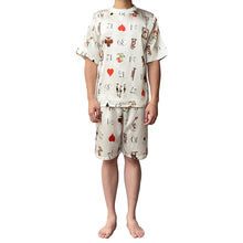 Load image into Gallery viewer, Lazy Dolphins Men Playing Cards short sleeve pajamas set
