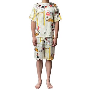 Men Lazy Dolphins Elephant Pajamas Set
