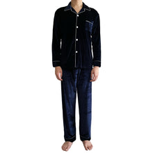 Load image into Gallery viewer, Classic Midnight Blue Velvet PJ Set (Men)
