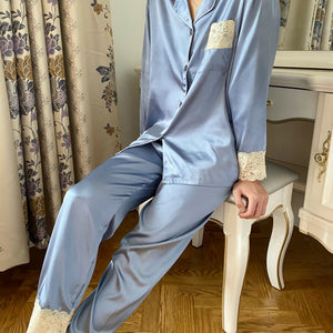 Classic Carolina Blue Lace PJ Set