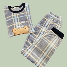 Load image into Gallery viewer, Too cute the Bear Text Pajamas Set