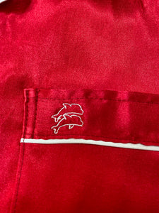 Embroidered Lazy Dolphin logo at chest pocket