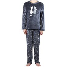Load image into Gallery viewer, Grey Couple Kitty PJ Set (Men)