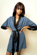 Load image into Gallery viewer, June Short Crepe Robe - Teal