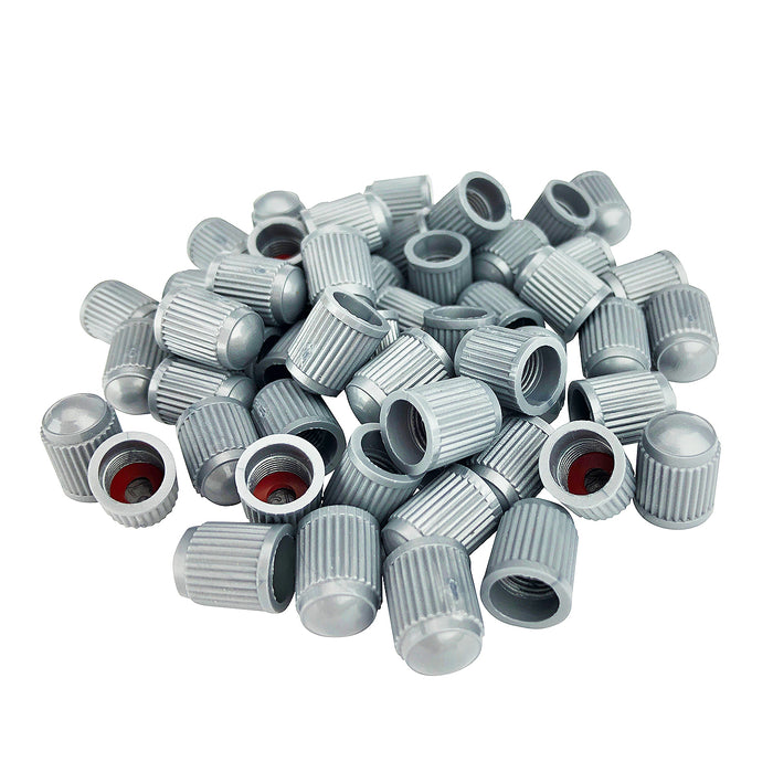 Gray Valve Cap with Inner Seal for All American Schrader Type Valve Stems