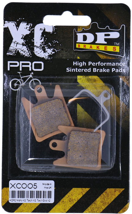 XC PRO - DP BRAKES X-Country Sintered Disc Brake Pads for Hope Moto V2 Systems