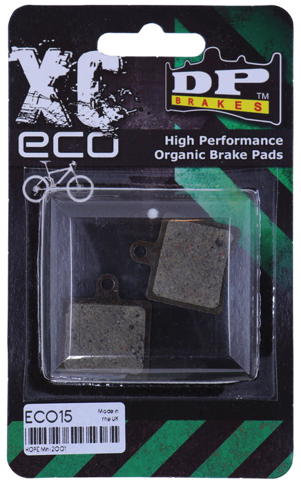 XC ECO - DP BRAKES Organic Disc Brake Pads for Hope Mini Brake Systems