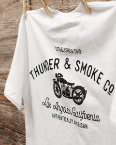 Authentically American White Moto Shirt