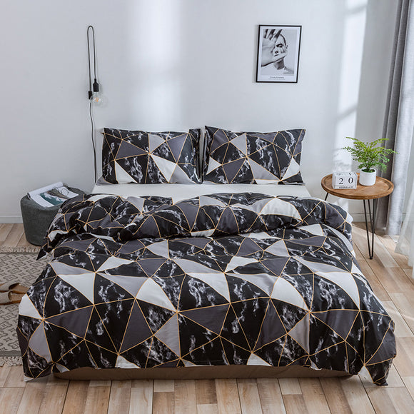 Pure Cotton Marble Tile Pattern Pillowcases #LB055