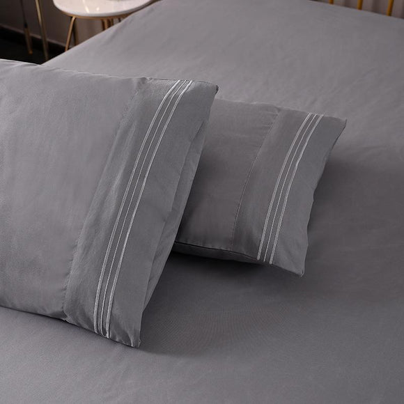 Embroidery Solid Color Pillowcases #LB009
