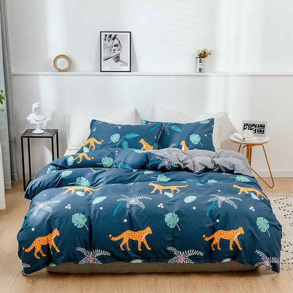 Cartoon Leopard Pure Cotton Duvet Cover Sets #LB059