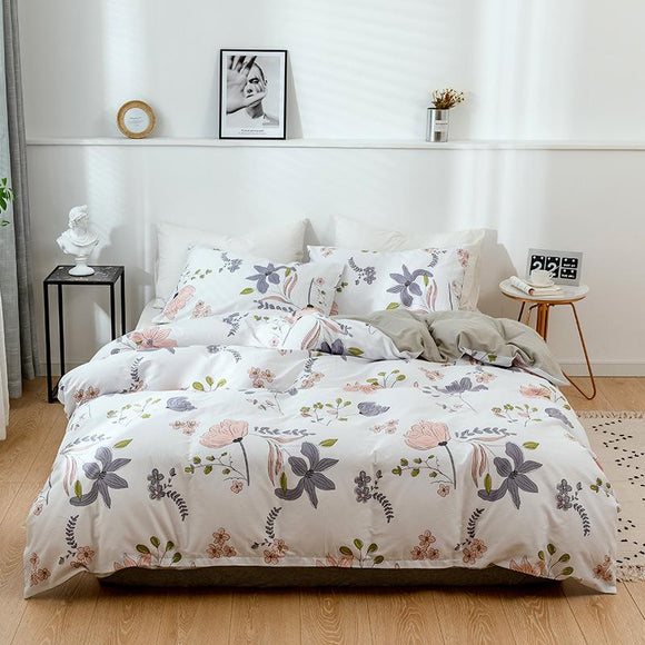 Flowers Pure Cotton Pillowcases #LB058