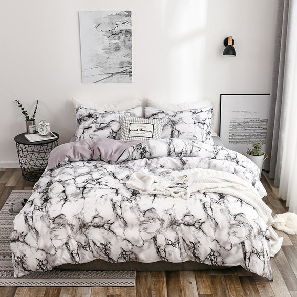 Two-color Marbling Duvet Cover Sets #LB008