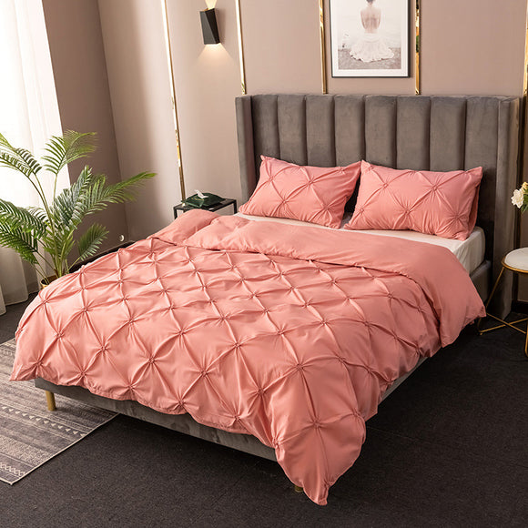 Polyester Solid Color Duvet Cover Sets #LB002