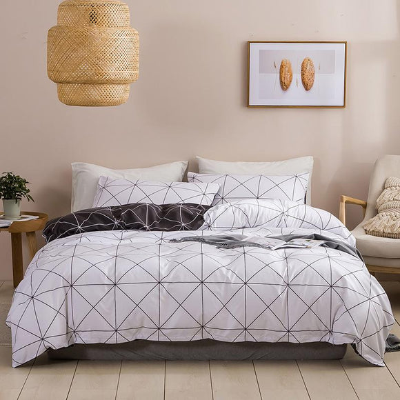 Black and White Grid Pillowcases #LB052