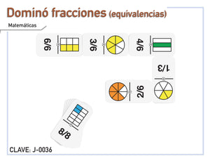 Dominó de Fracciones (Equivalencias) - Educatodo  - Dominó