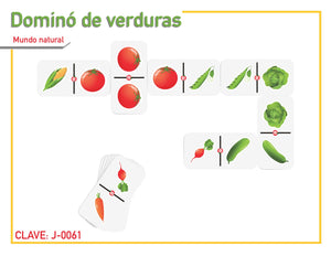 Dominó de Verduras - Educatodo  - Dominó