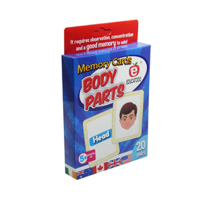 Memory Cards Body Parts - Educatodo  - Juego de mesa