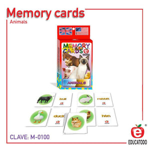 Memory Cards Domestic Animals - Educatodo  - Juego de mesa