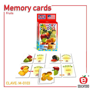 Memory Cards Fruits - Educatodo  - Juego de mesa