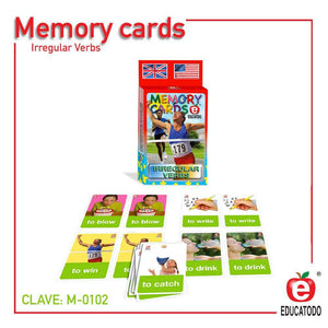 Memory Cards Irregular Verbs - Educatodo  - Memopares