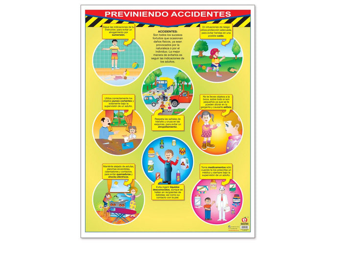 Póster Previniendo Accidentes