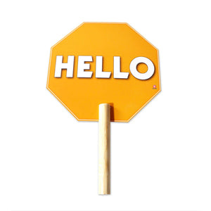 Sign Hello With Handle 30 X 19.5 cm - Educatodo  - Sing