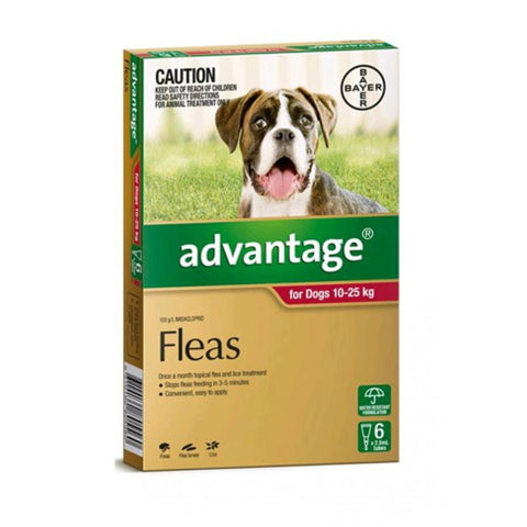 Advantage Dog 10-25kg 6 pack