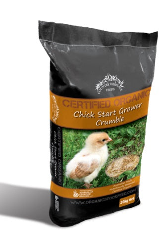 ORGANIC CHICK STARTER GROWER CRUMBLE 20K