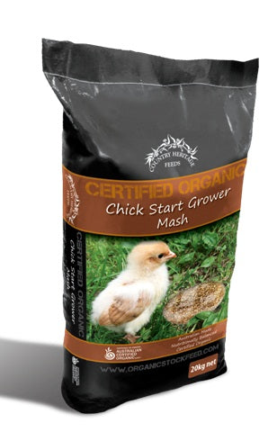 ORGANIC CHICK STARTER GROWER (MASH) 20KG
