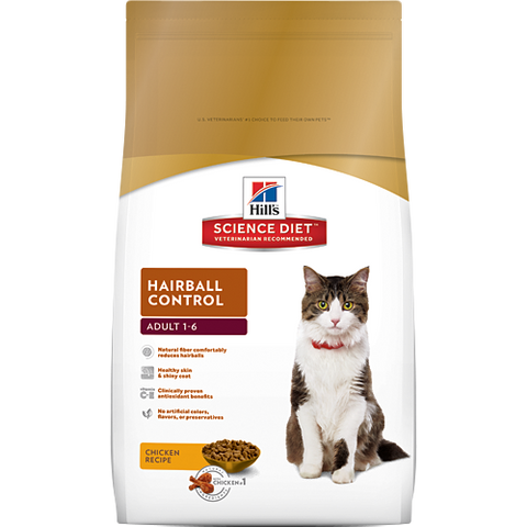 Hills Cat Adult Hairball Control 4KG