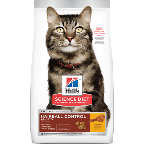 Hills Cat Hairball Control Adult 7+  4kg
