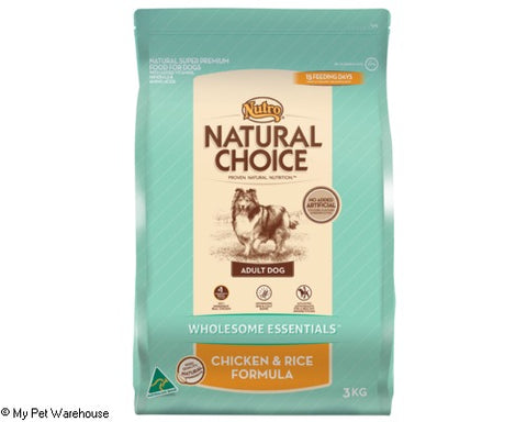Nutro Natural Choice Adult Dog Chicken Rice & Oatmeal 3kg