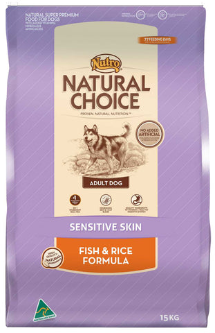 Nutro Natural Choice Dog Adult Sensitive Skin Fish Rice 3kg