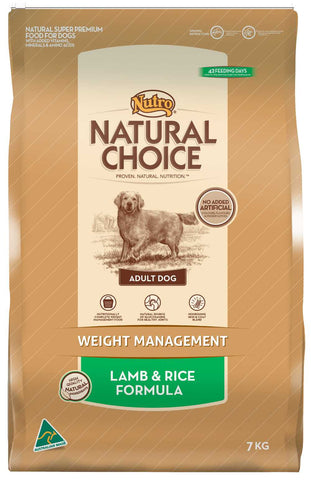 Nutro Natural Choice Adult Weight Management Lamb & Rice 13kg