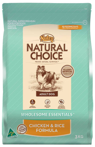Nutro Natural Choice Adult Dog Chicken & Rice Formula 15kg