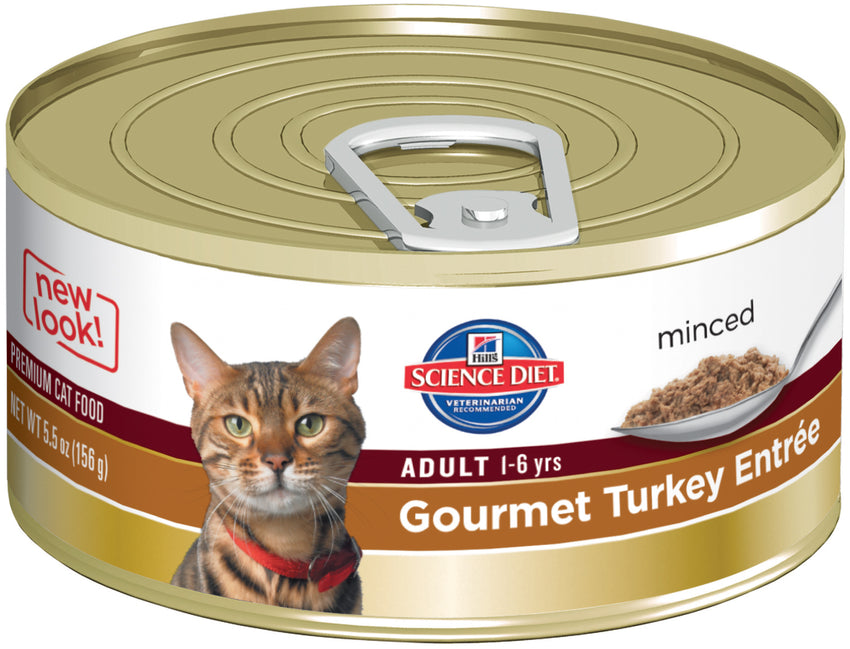 Hills Cat Adult Gourmet Turkey 24X156G