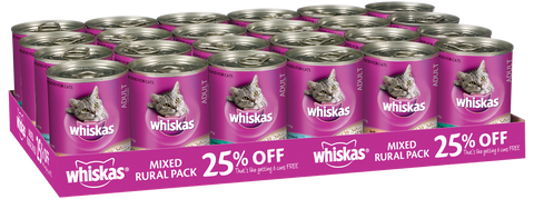 Whiskas Mixed Cat Food 24 x 400g Cans
