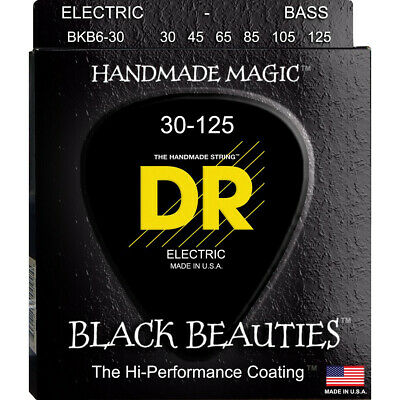 Dr strings black beauties 6 cuerdas 30-125