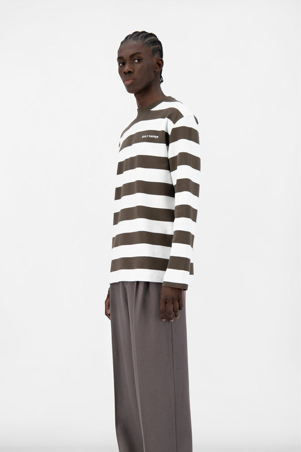 FOREST BROWN STRIPED PITH LONGSLEEVE