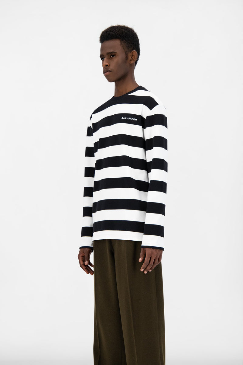BLACK STRIPED PITH LONGSLEEVE